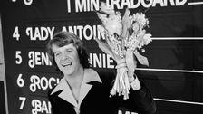 """Med 117 poäng segrade Lars Berghagen i Melodifestivalen 1975 med melodin """"Jennie Jennie""""."""