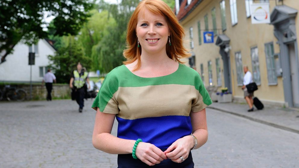 Centerpartiledaren Annie Lööf i Almedalen 2012. Foto: Scanpix