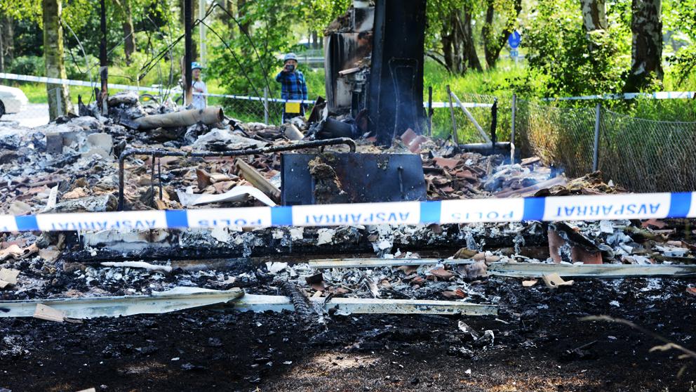Misstankt mordbrand i lagertalt i ystad