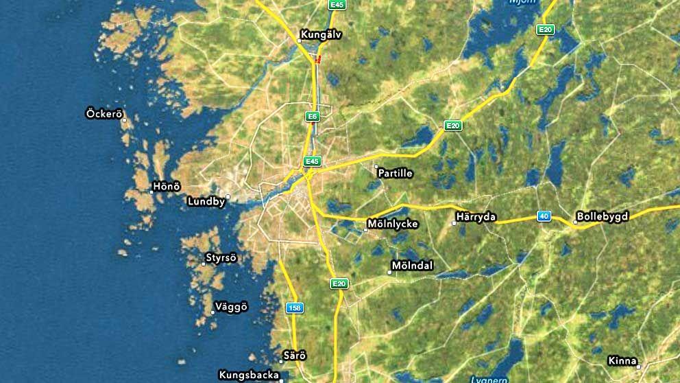 Sattelitbild bekräftar att Sveriges andra stad är utplånad.