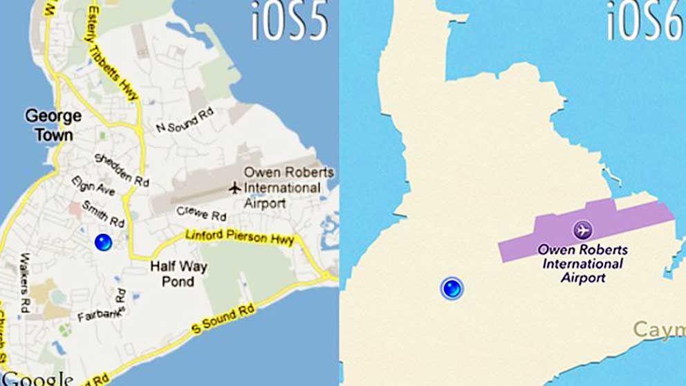 Allt annat än flygplatsen på Caymanöarna har finns inte längre.
