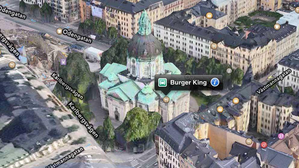 Månglarna har flyttat in i templet. I Gustav Vasa kyrka i Stockholm hittar man numera en hamburgerrestaurang.