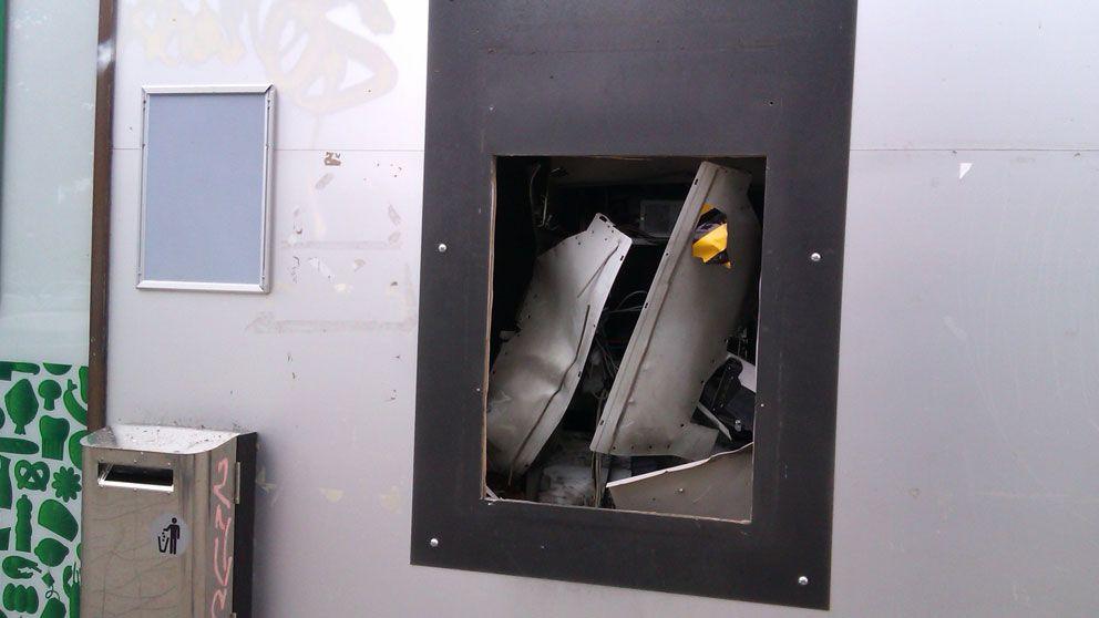 Uttagsautomat sprangd i malmo