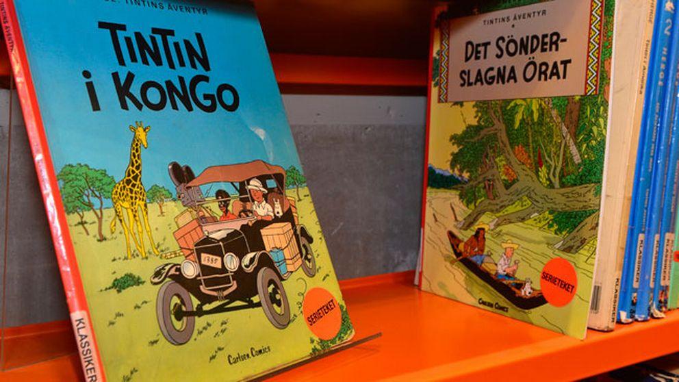 """""""Tintin i Kongo"""" sålde mycket bättre än vanligt i samband med förra veckans rasismdebatt."""