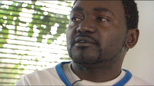 Raymond Ndanyeh, en av de kamerunier som skuldsatte sig för att få komma till Sverige och jobba hos Skogsnicke AB.