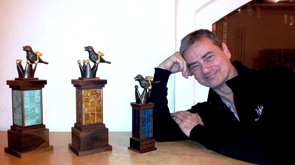 Melodifestivalens vinnare far skulptur
