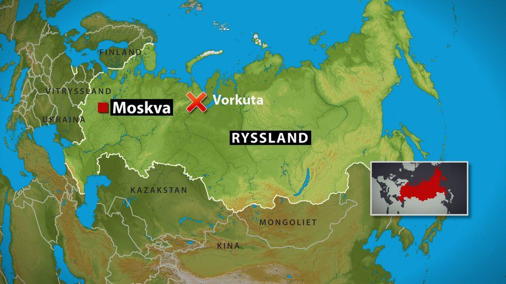karta över ryssland Flera fast i rysk kolgruva | SVT Nyheter karta över ryssland