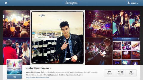 Bild på Melodifestivalen 2013 på Instagram.