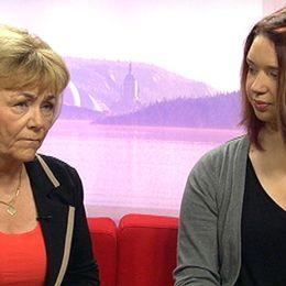 Justitieminister Beatrice Ask och Julia.