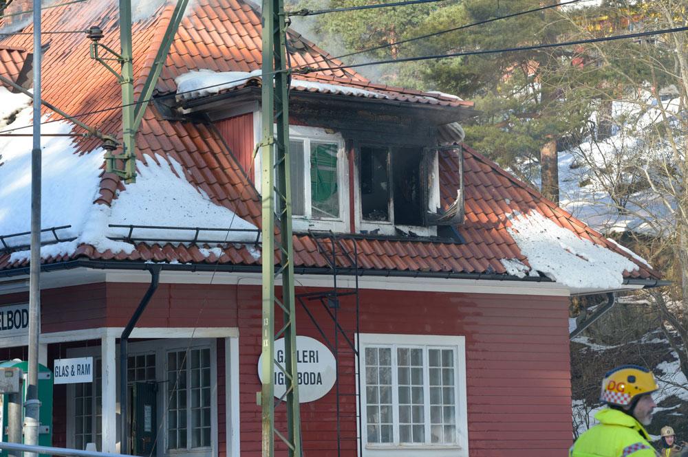 Brand i igelboda stationshus