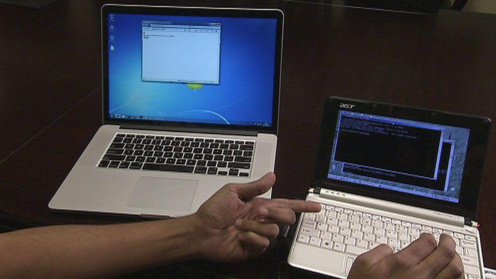 Hacker, dator, mac