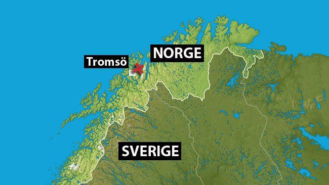 tromsö karta En död efter lavin i Norge   SVT Nyheter tromsö karta