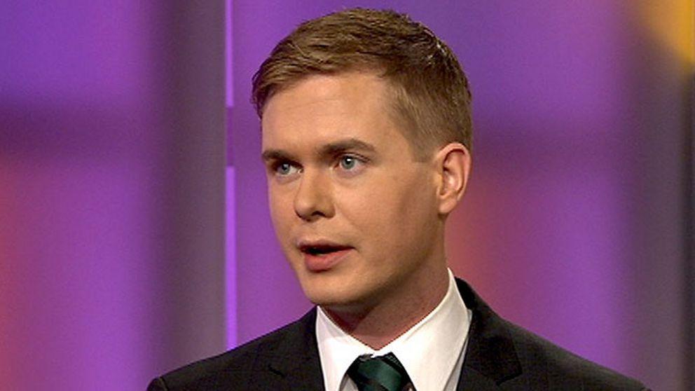 Gustav Fridolin, språkrör Miljöpartiet, i SVT:s Agenda