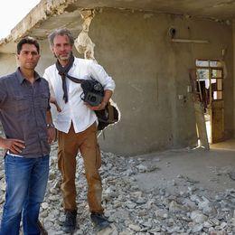 SVT:s utsända i Syrien, Samir Abu Eid och Ulf Sandlund.