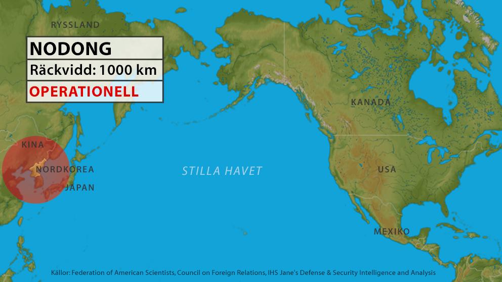 nordkorea karta Grafik: Så långt kan Nordkoreas missiler nå | SVT Nyheter nordkorea karta