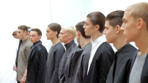 Manliga modeller i serien Modellpojkar.
