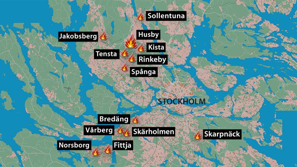 Stockholm Fororter Karta Karta 2020