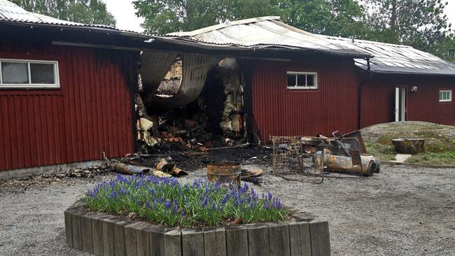 Brand i husby gard