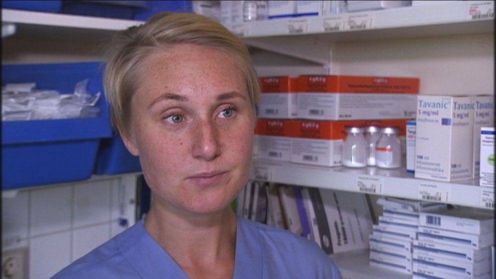 Gabriella Eklund, sjuksköterska på Karolinska sjukhuset.