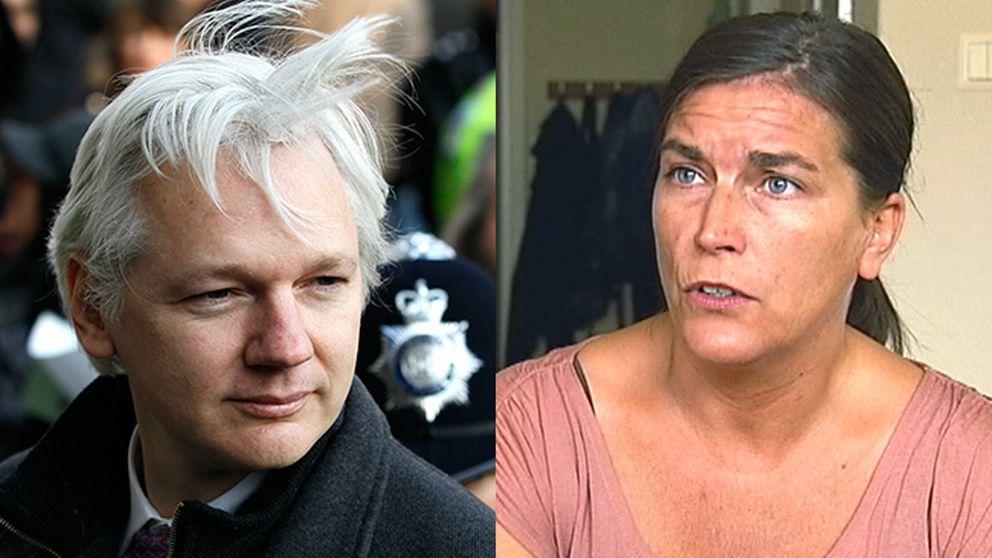 Wikileaks-grundaren Julian Assange (foto: Scanpix) och journalisten Sofia Mirjamsdotter (foto: SVT Kulturnyheterna).