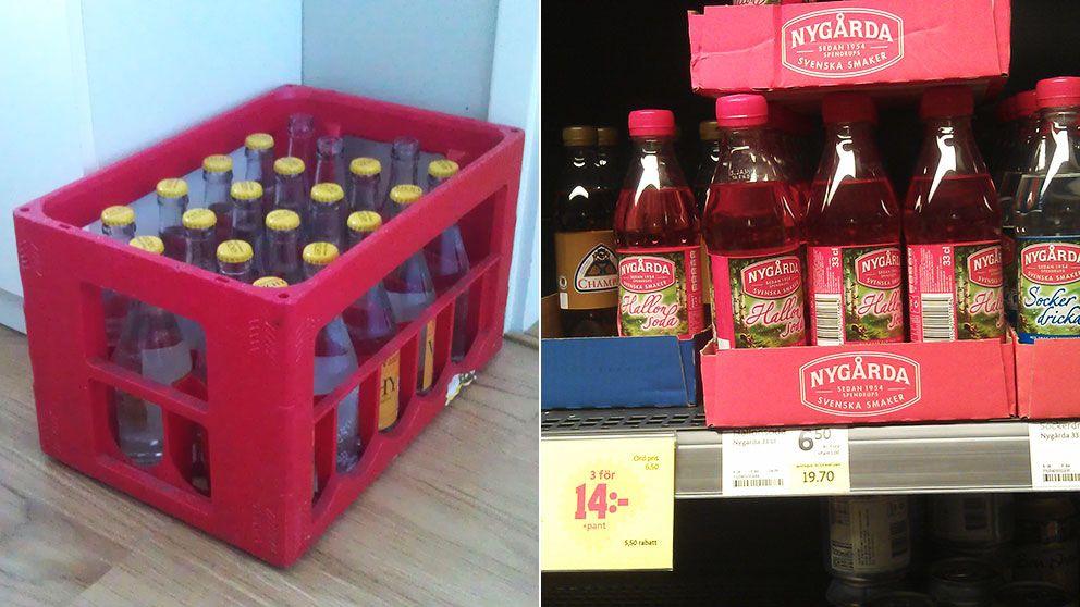 Läskback och 33 cl PET-flaskor