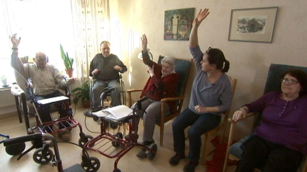 Fysisk träning har en positiv inverkan på gamla