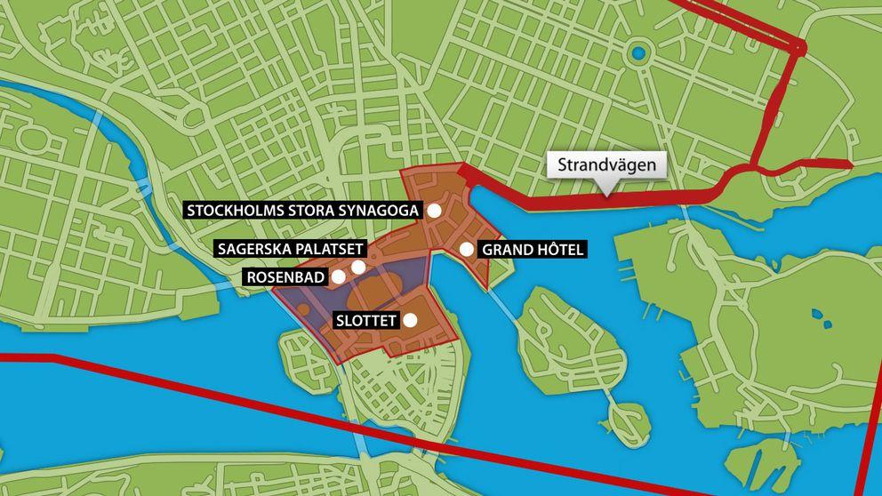 rosenbad karta Så slår Obamas besök mot trafiken | SVT Nyheter rosenbad karta
