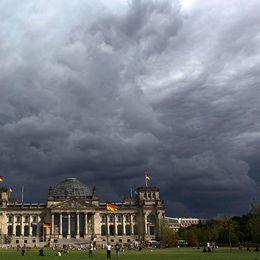 Riksdags-byggnaden i Berlin, som hyser förbundsdagen (parlamentet).