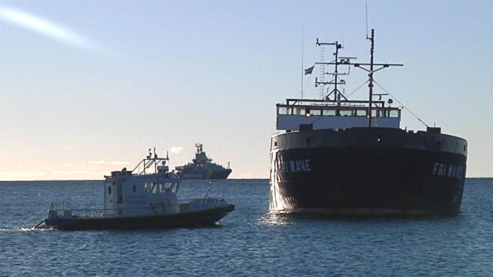 Grundstott fartyg kunde dras loss