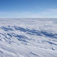Världens kallaste plats, en platå i östra Antarktis.