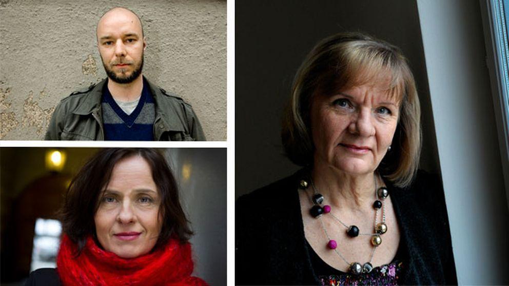 Sven Olov Karlsson, Susanna Alakoski och Aino Trosell – den nya tidens arbetarförfattare, enligt litteraturkritiker Ulrika Milles.