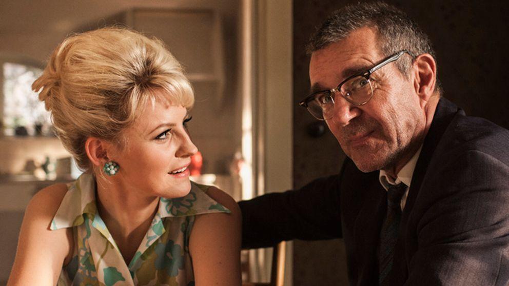 """Dotter och far. Edda Magnason och Kjell Bergqvist som Monica Zetterlund och Bengt nilsson i Per Flys bioaktuella film """"Monica Z"""""""