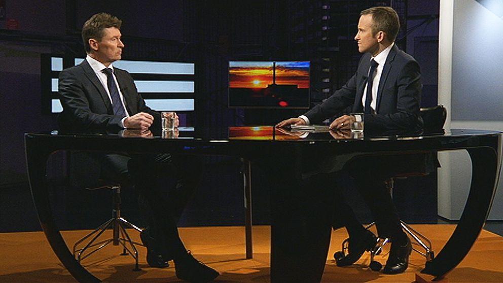 Vattenfalls nordenchef Torbjörn Wahlborg frågas ut av Anders Holmberg i Agenda.