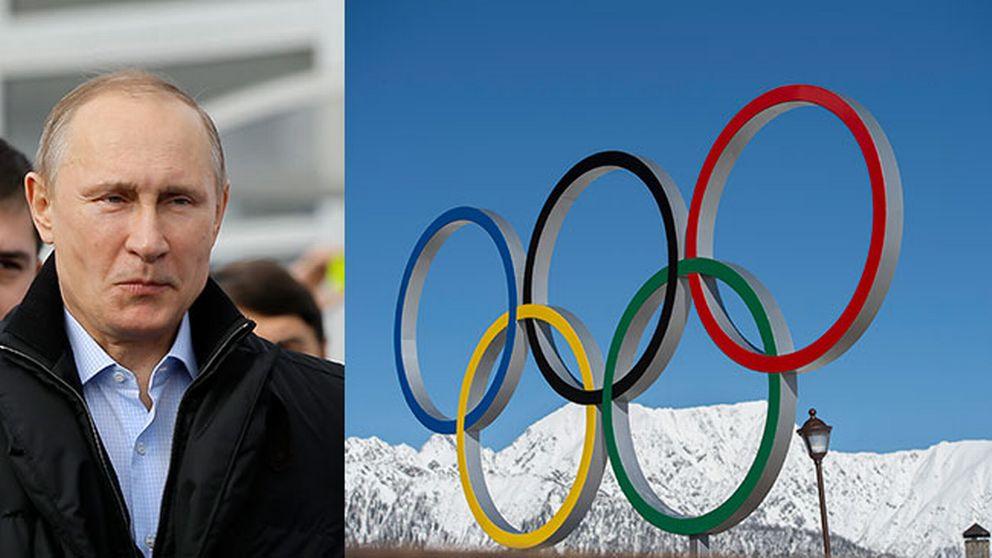 Putin och de olympiska ringarna.