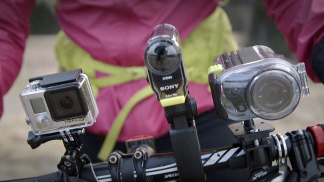 kamerorna monterade på cykelstyre