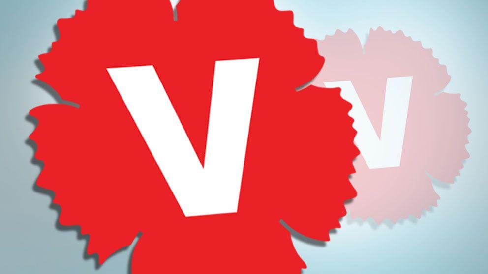 Vänsterpartiets logotyp.