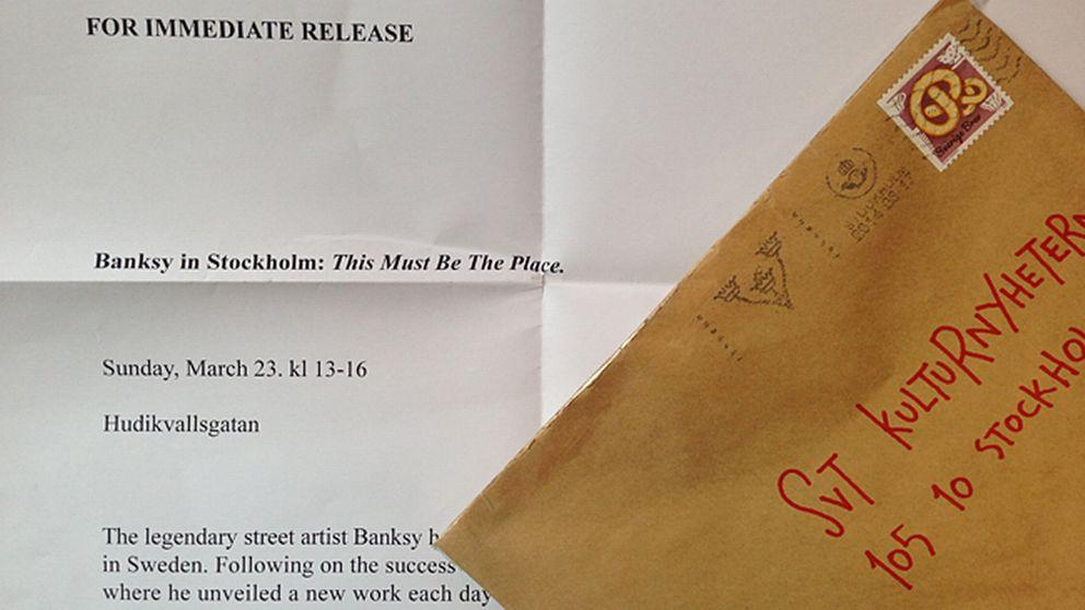 Det anonyma brevet i A2-format var adresserat till Kulturnyheternas redaktion.