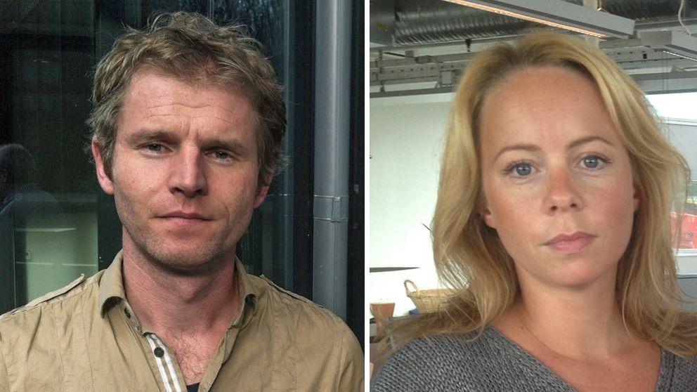 Redaktör Henrik Bergsten och reporter Jorun Collin.