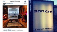 Galleristen Jonas Kleerup la i förra veckan upp en bild som hintade om att Banksy är i Stockholm.