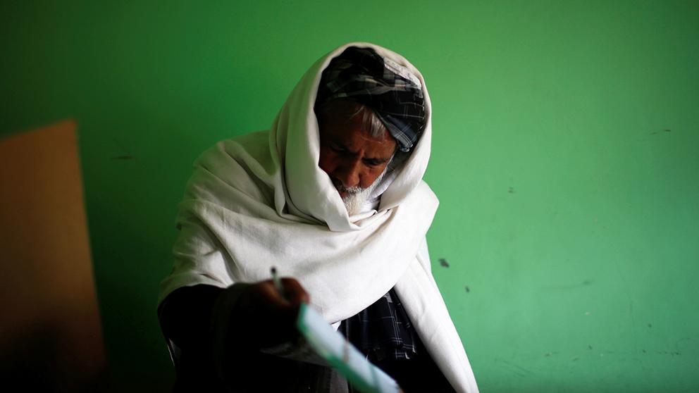 Lugnt val afghansk framgang