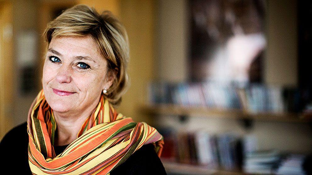 SVT:s avgående vd Eva Hamilton.