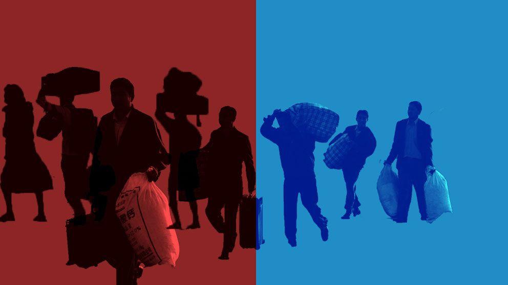 Blå kommuner tar emot färre flyktingar än vad röda kommuner gör.
