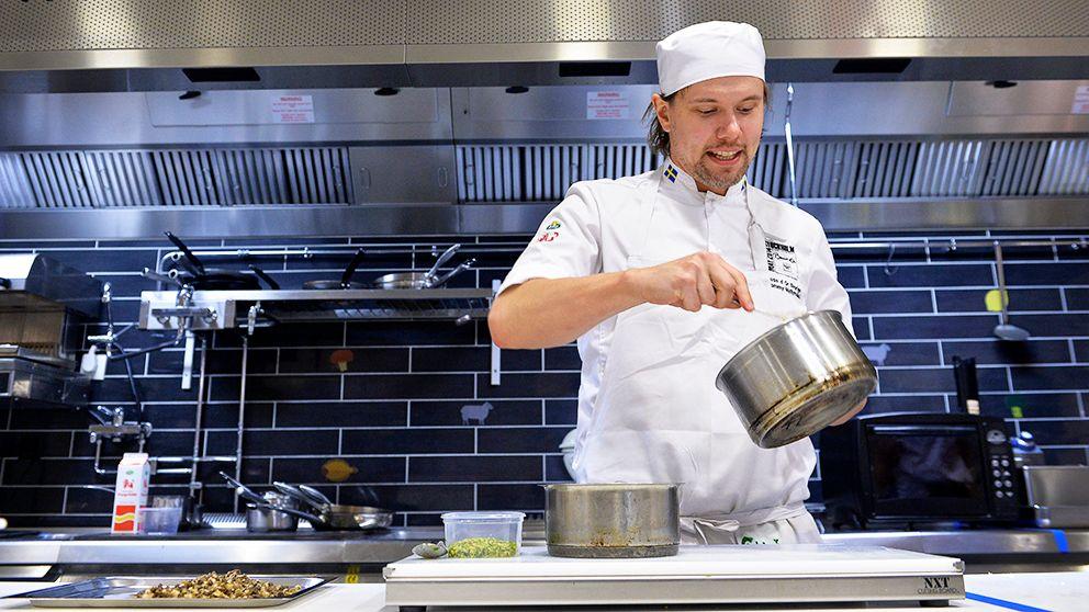 Kocken Tommy Myllymäki representerar Sverige i tävlingen Bocuse d'Or Europa 2014.