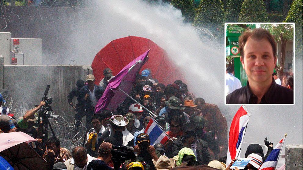 Demonstranter skadade i bangkok