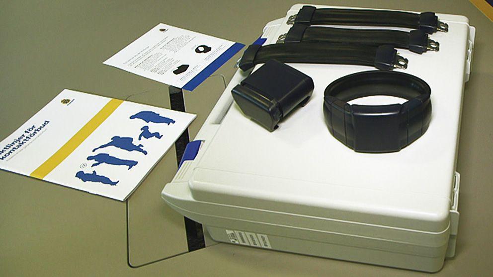 Elektroniska fotbojor finns hos Rikspolisstyrelsen men ännu har de inte använts.