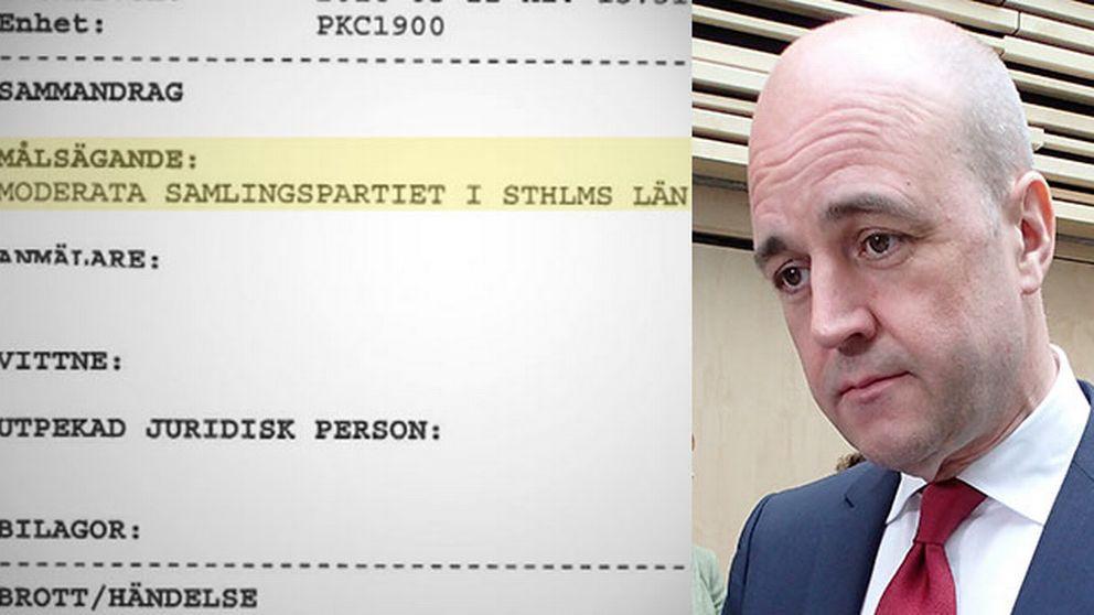 Polisanmälan och Fredrik Reinfeldt.