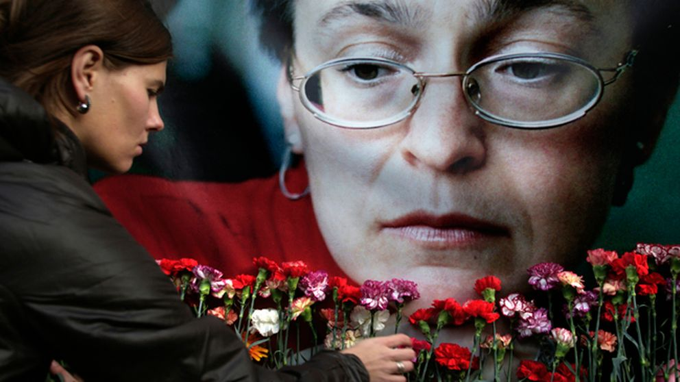 Anna Politkovskayas minne hedras.