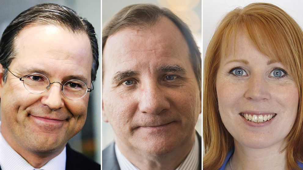 Anders Borg (M), Löfven (S) och Annie Lööf (C).