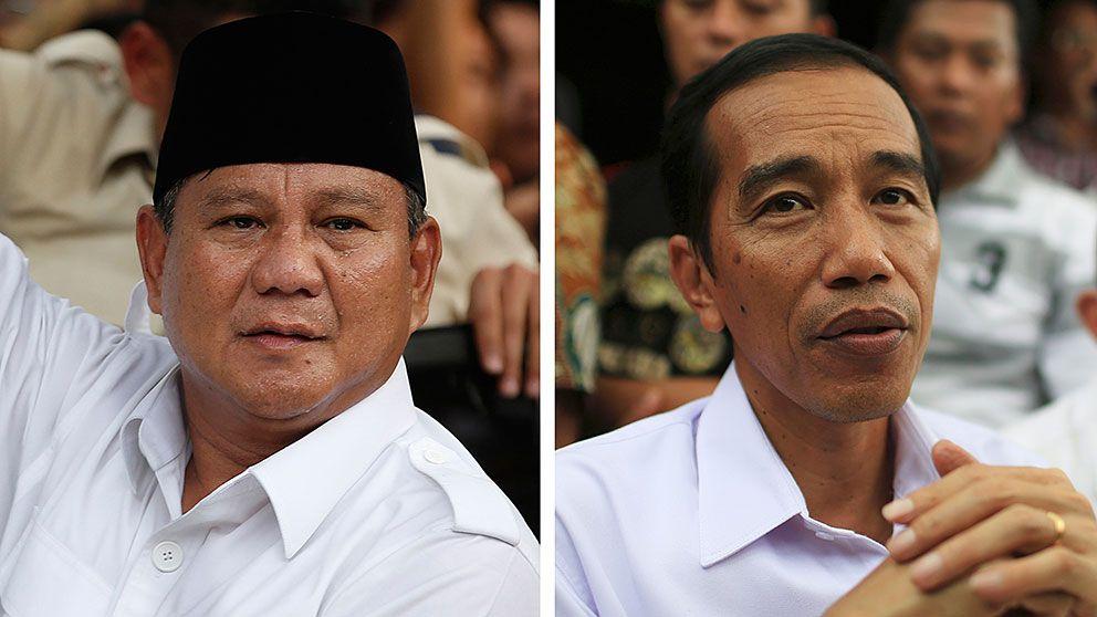 Sex kandidater i presidentvalet