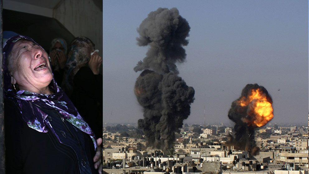 Barn i gaza dog i flyganfall